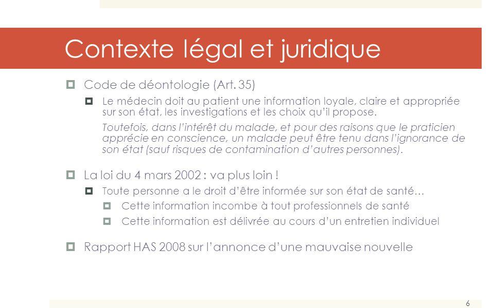 Contexte légal et juridique
