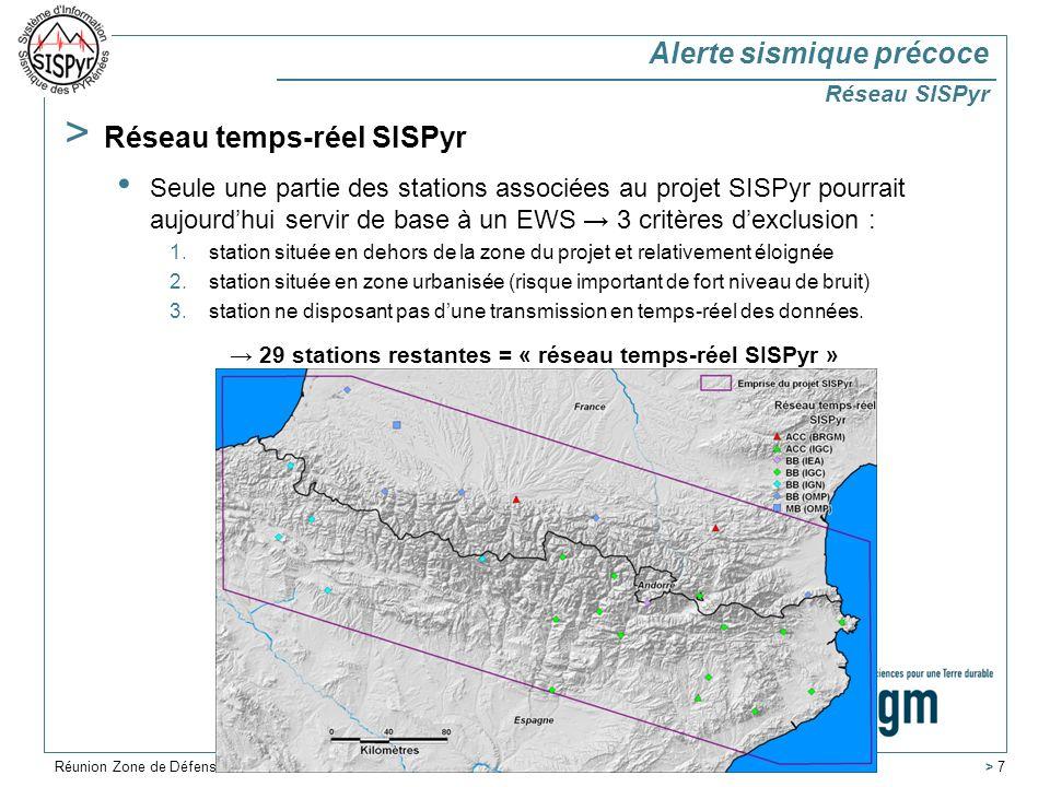 → 29 stations restantes = « réseau temps-réel SISPyr »
