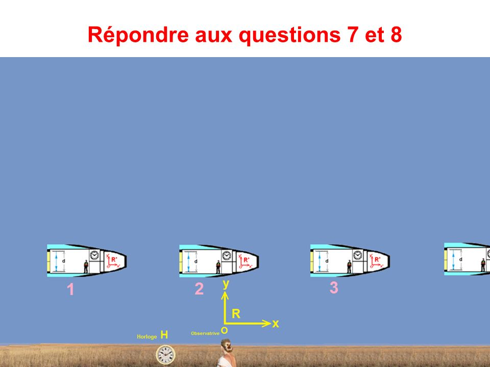 Répondre aux questions 7 et 8