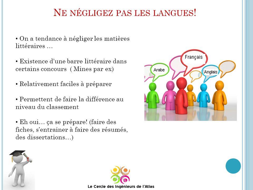 Ne négligez pas les langues!
