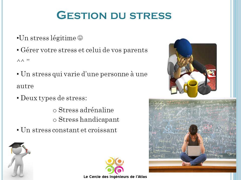 Gestion du stress Un stress légitime 