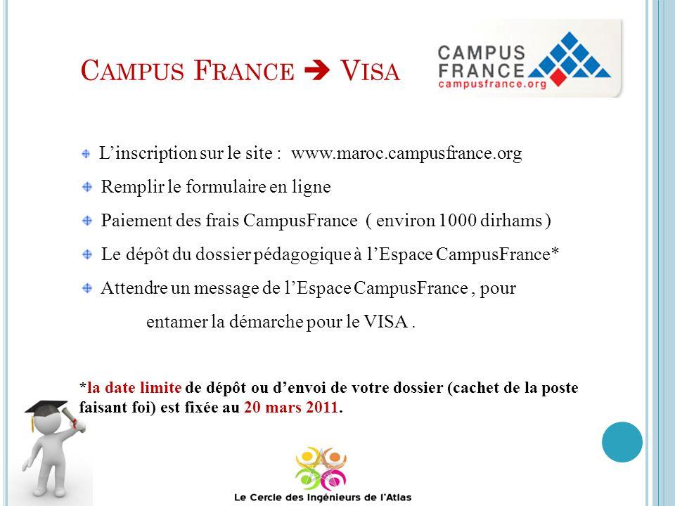Campus France  Visa Remplir le formulaire en ligne
