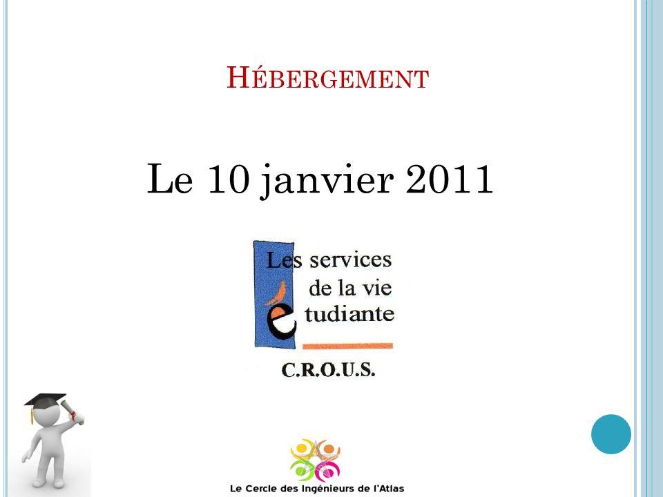 Hébergement Le 10 janvier 2011