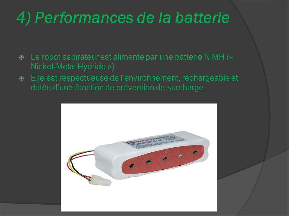 4) Performances de la batterie