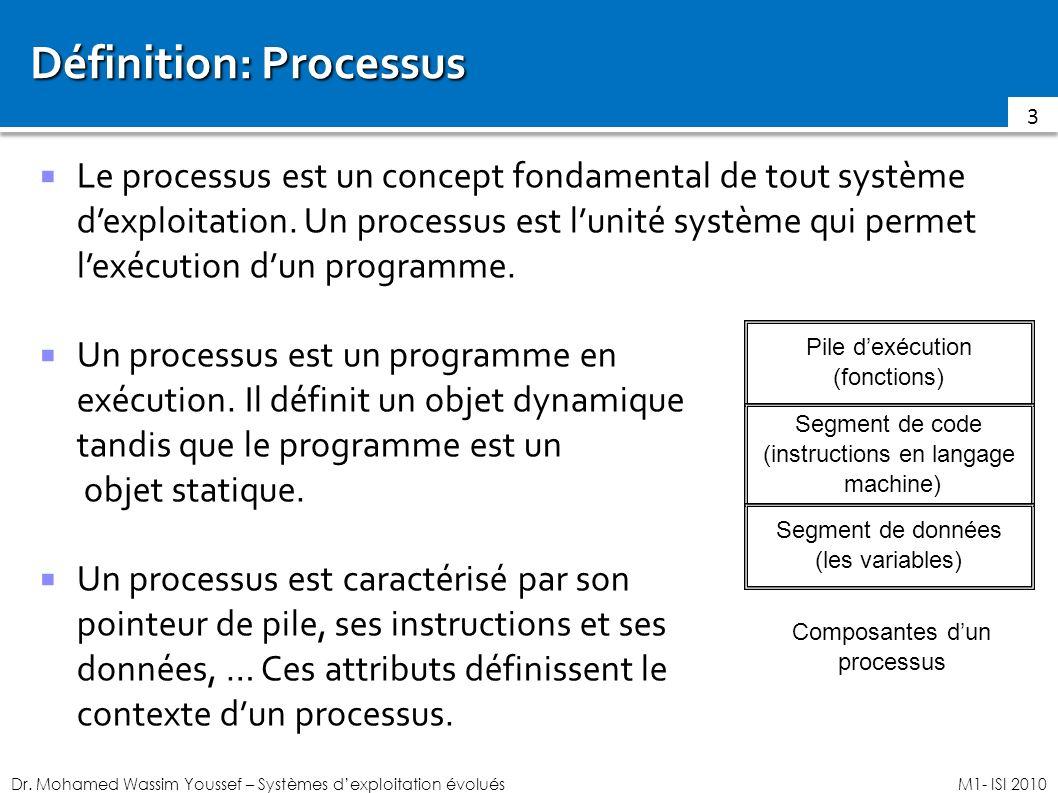 Définition: Processus
