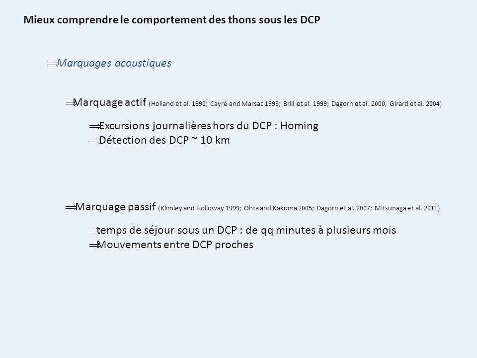 Mieux comprendre le comportement des thons sous les DCP