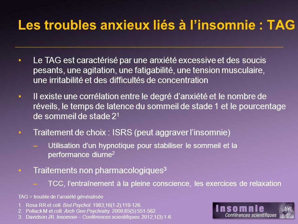 Les troubles anxieux liés à l'insomnie : TAG