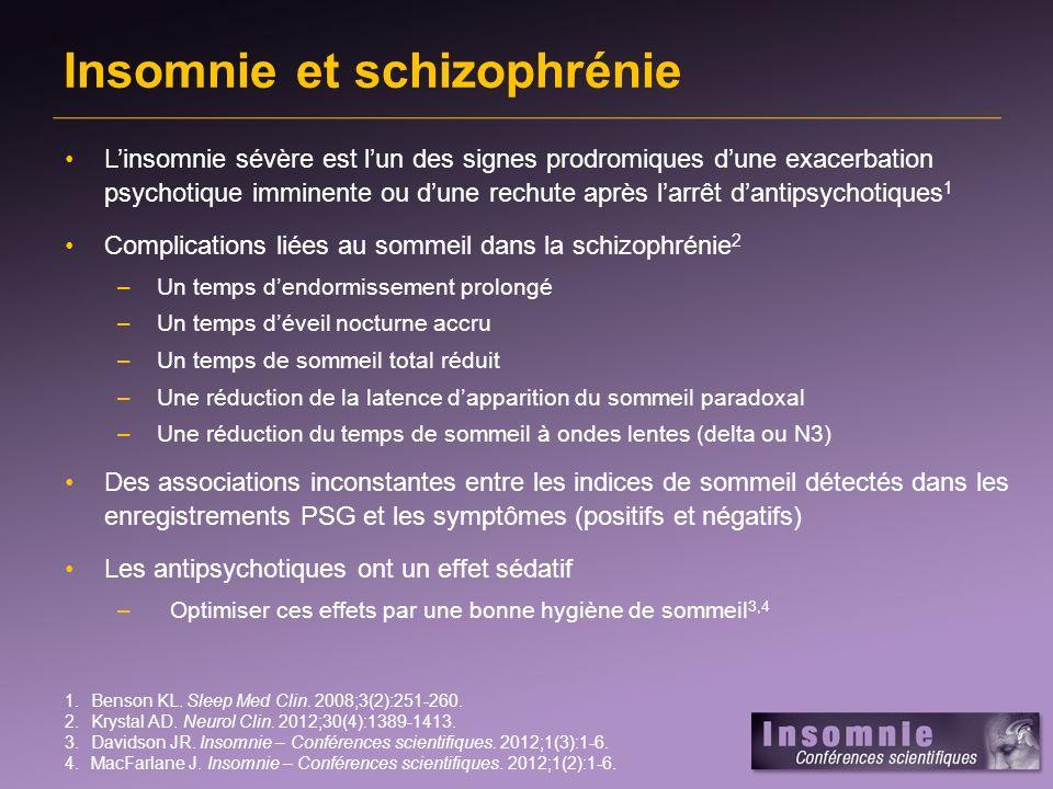 Insomnie et schizophrénie