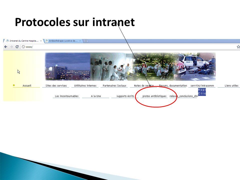 Protocoles sur intranet