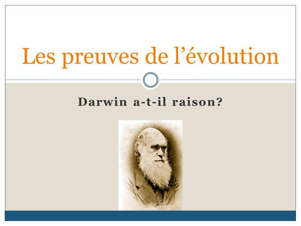 Les preuves de l'évolution