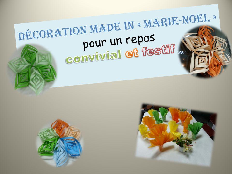 Décoration made in « Marie-Noel » pour un repas convivial et festif