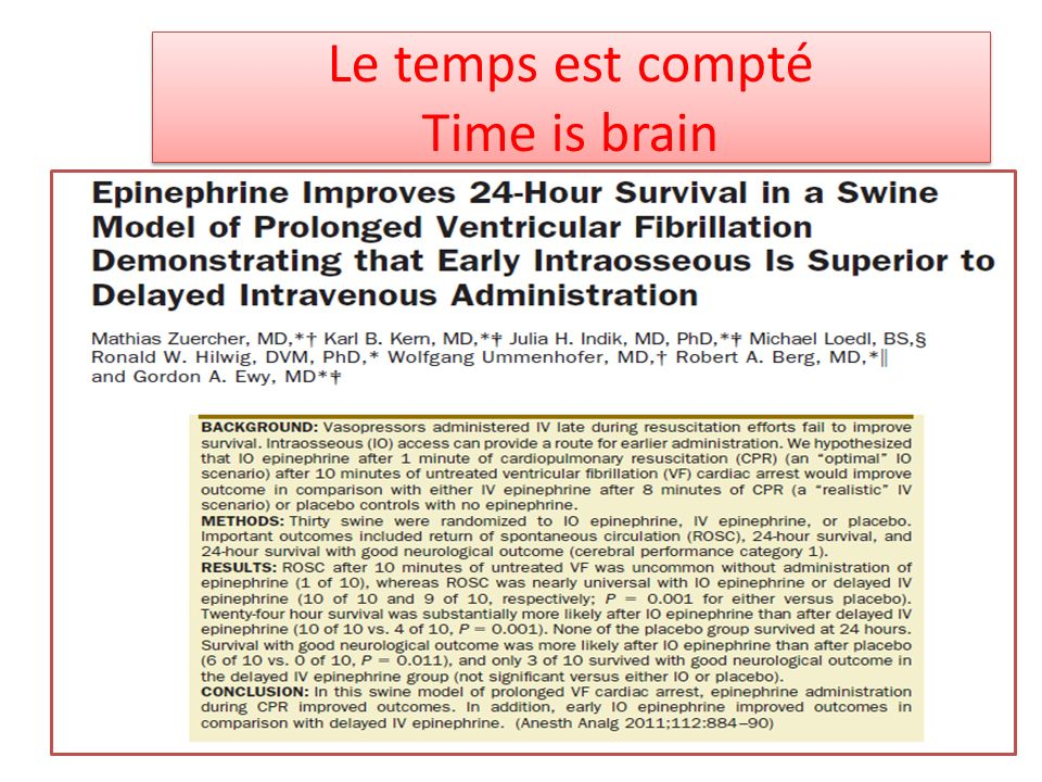 Le temps est compté Time is brain