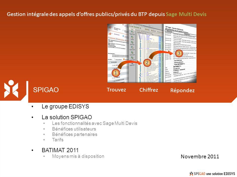 Gestion intégrale des appels d'offres publics/privés du BTP depuis Sage Multi Devis