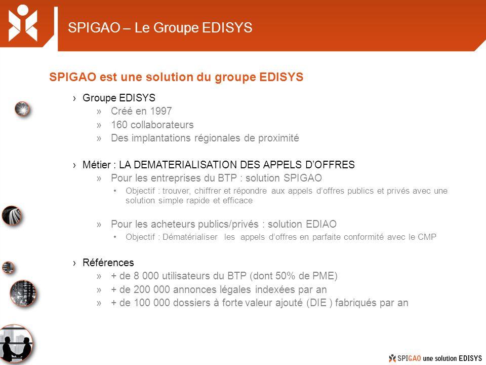 SPIGAO – Le Groupe EDISYS