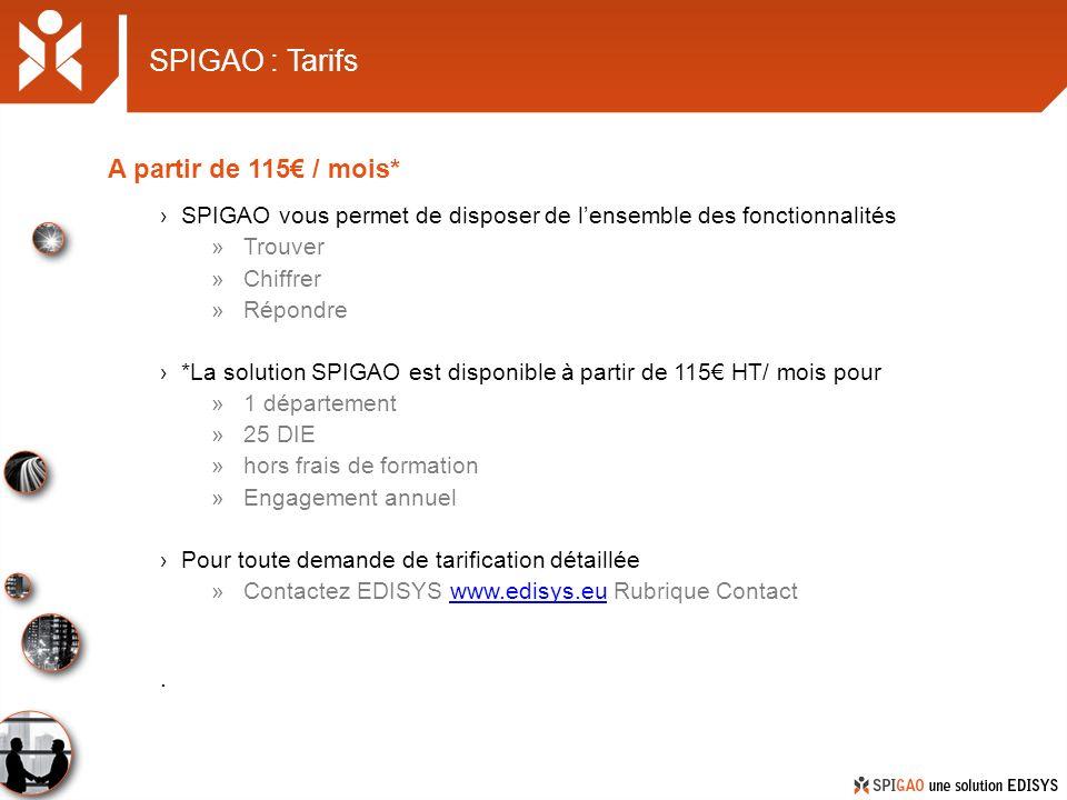 SPIGAO : Tarifs A partir de 115€ / mois*