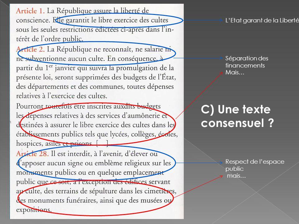 C) Une texte consensuel