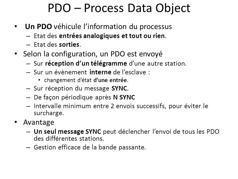 PDO – Process Data Object