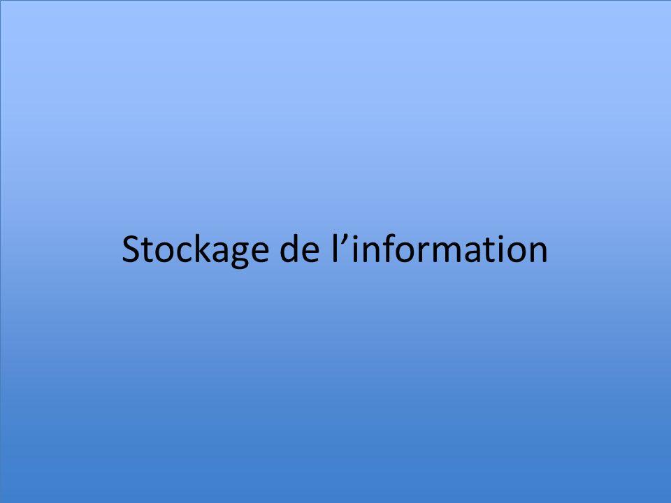 Stockage de l'information