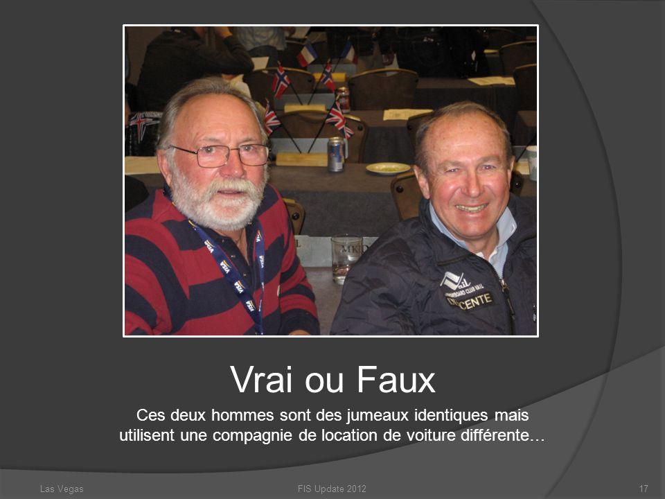 Vrai ou Faux Ces deux hommes sont des jumeaux identiques mais utilisent une compagnie de location de voiture différente…