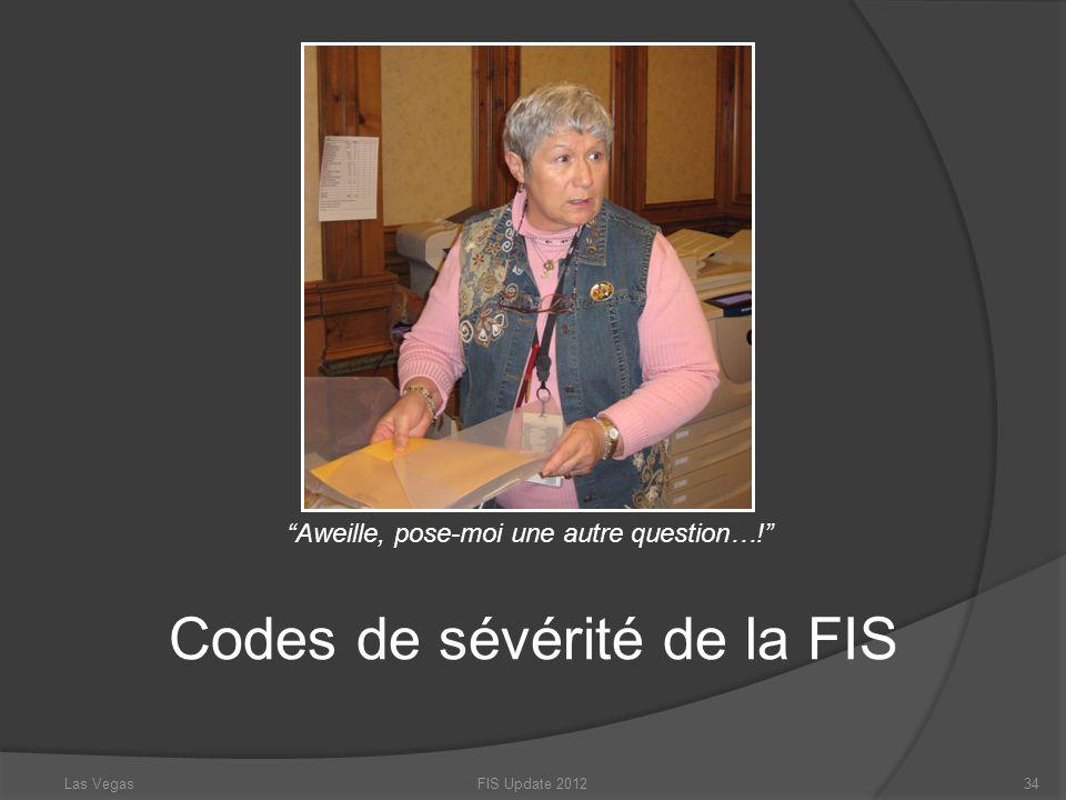 Codes de sévérité de la FIS