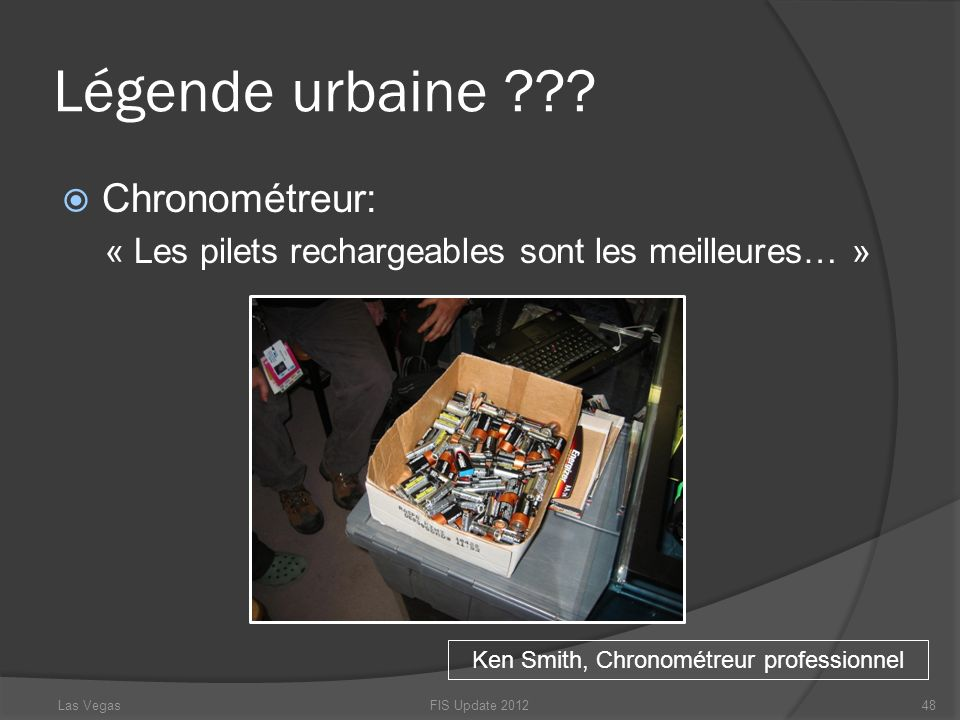 Ken Smith, Chronométreur professionnel