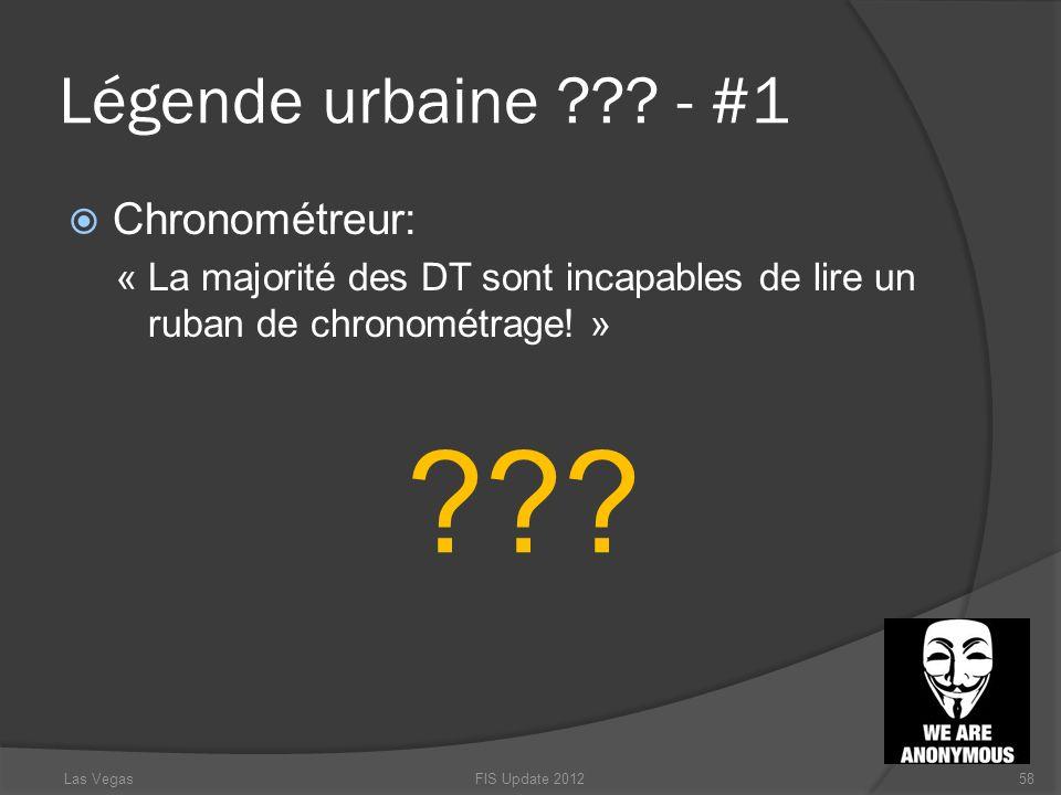 Légende urbaine - #1 Chronométreur: