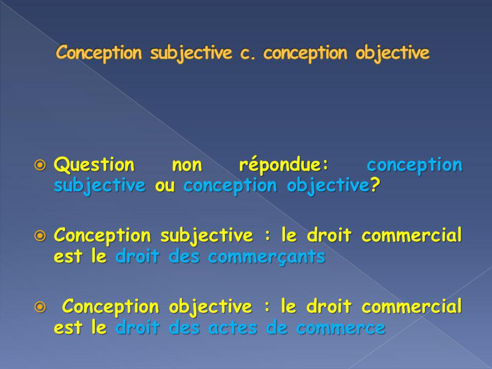 Conception subjective c. conception objective