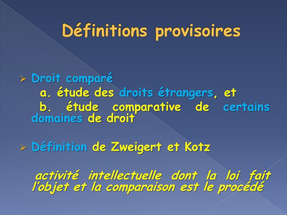 Définitions provisoires