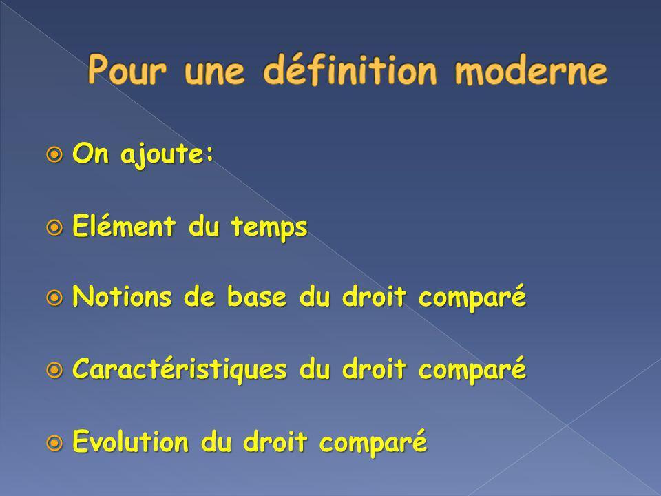 Pour une définition moderne