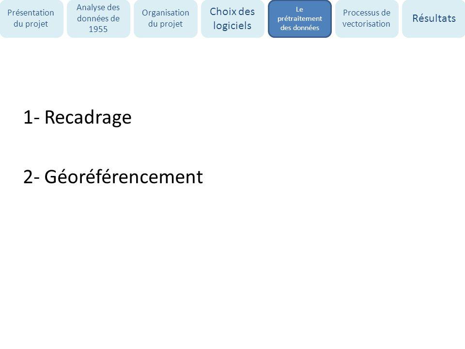 1- Recadrage 2- Géoréférencement
