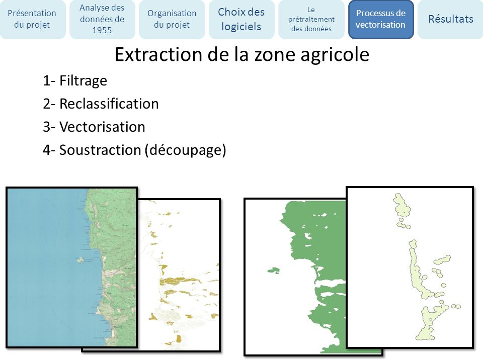 Extraction de la zone agricole