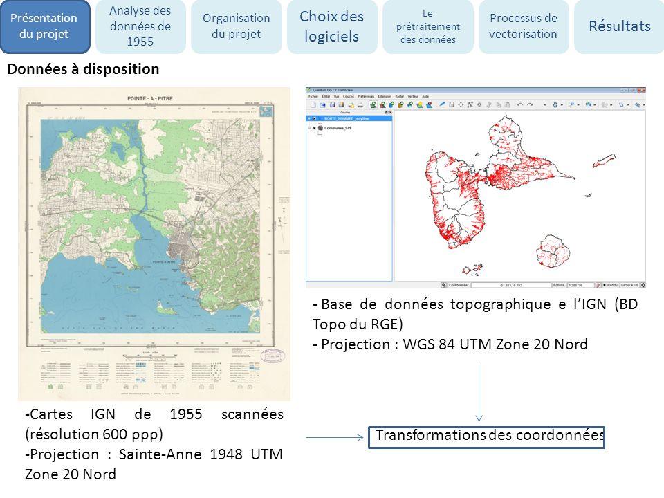 Base de données topographique e l'IGN (BD Topo du RGE)