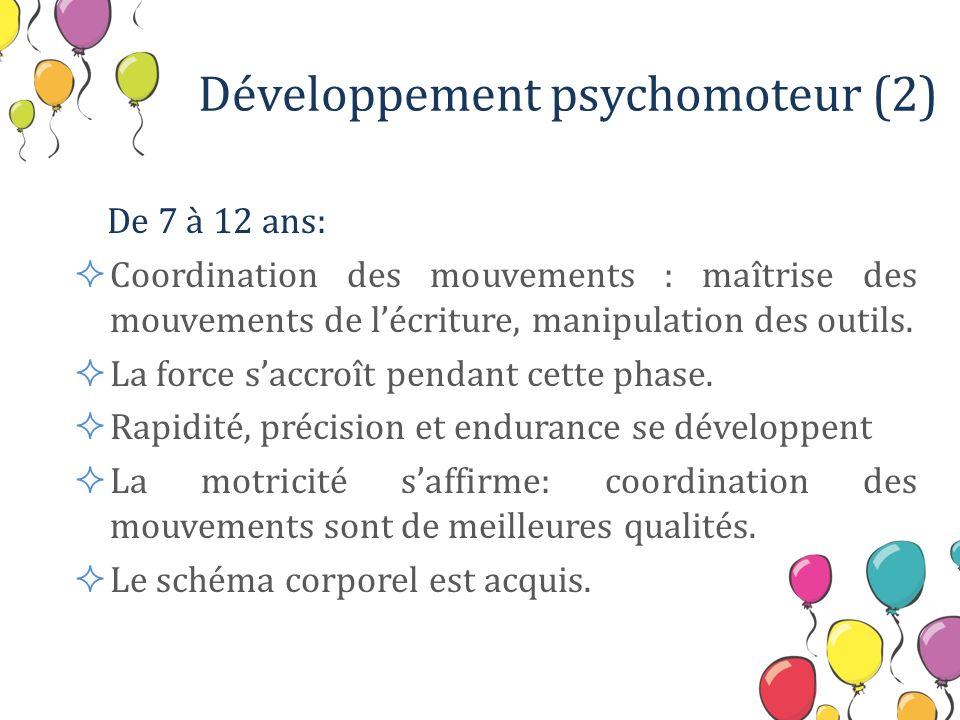 Développement psychomoteur (2)
