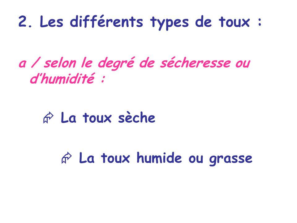 2. Les différents types de toux :