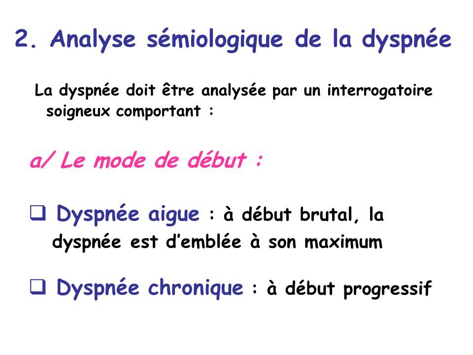 2. Analyse sémiologique de la dyspnée