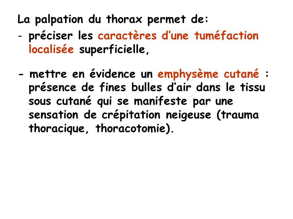 La palpation du thorax permet de: