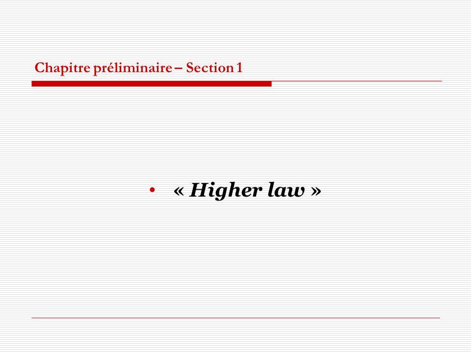 Chapitre préliminaire – Section 1