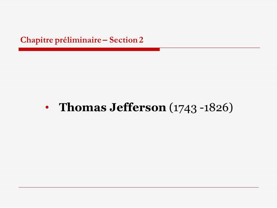 Chapitre préliminaire – Section 2