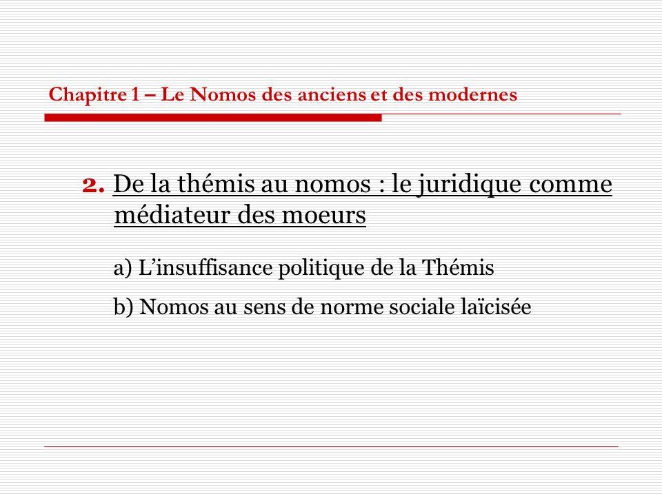 Chapitre 1 – Le Nomos des anciens et des modernes