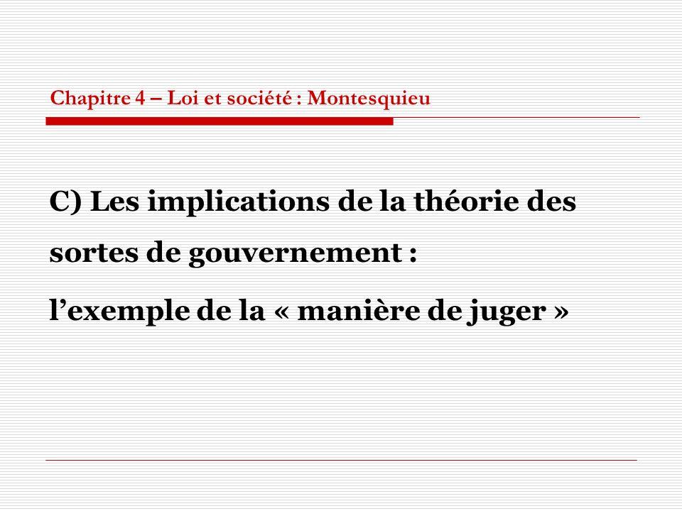 Chapitre 4 – Loi et société : Montesquieu