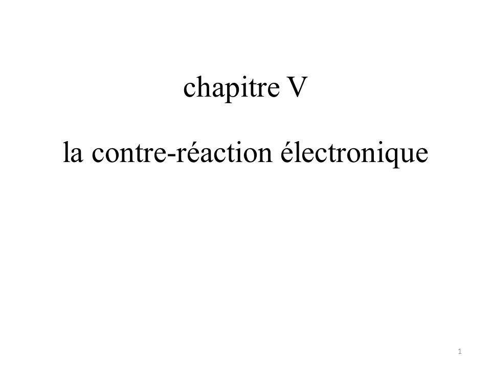 la contre-réaction électronique