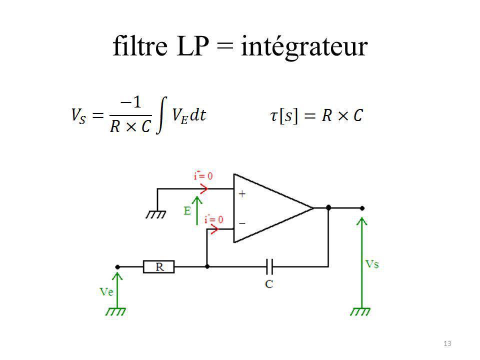 filtre LP = intégrateur