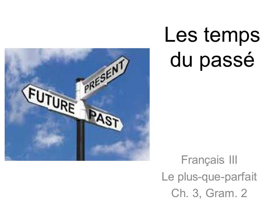 Français III Le plus-que-parfait Ch. 3, Gram. 2