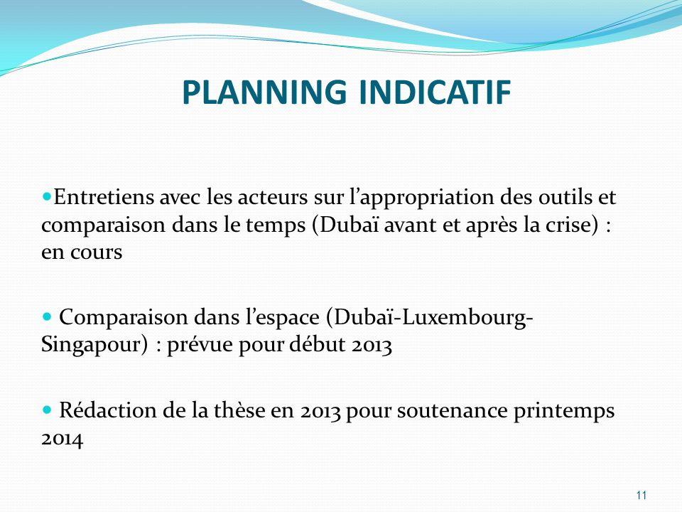 PLANNING INDICATIF