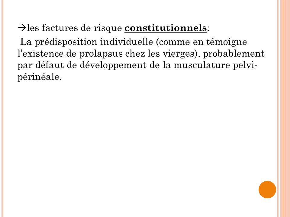 les factures de risque constitutionnels: