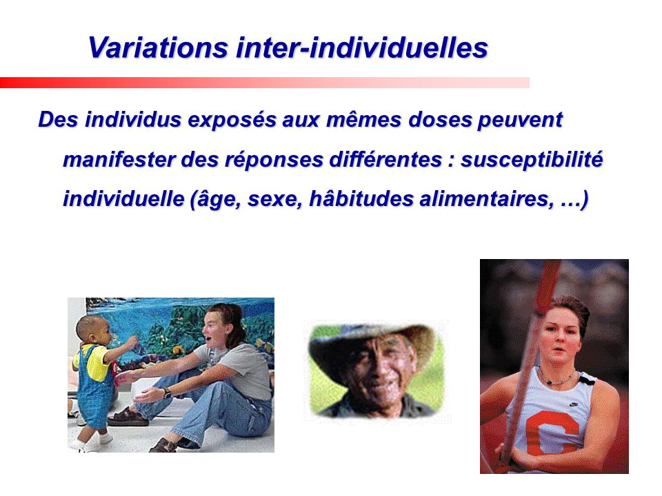 Variations inter-individuelles