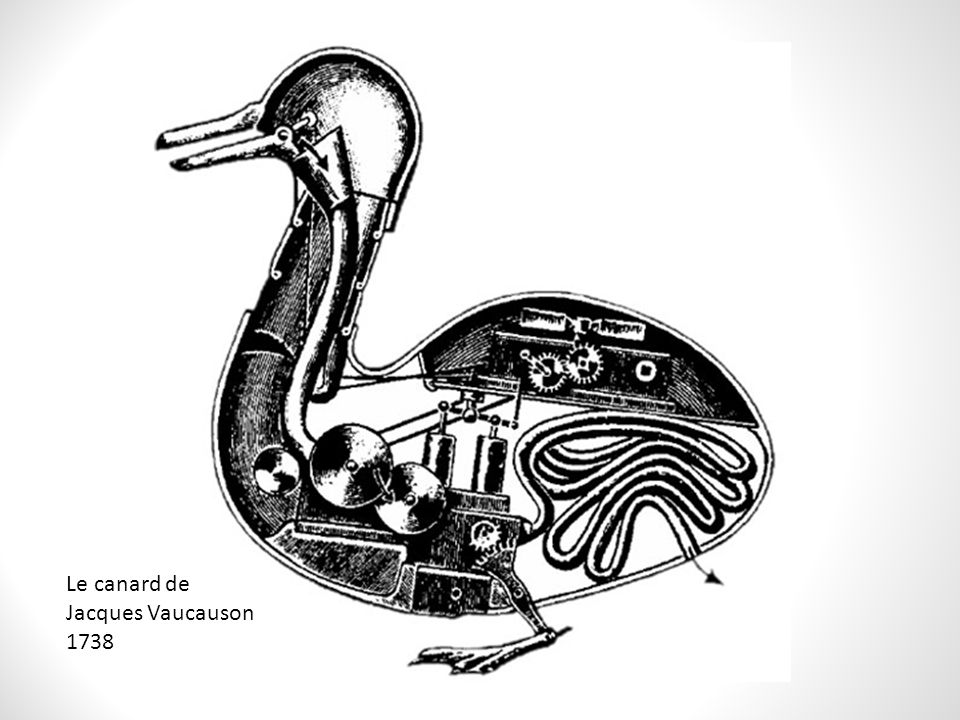 Le canard de Jacques Vaucauson 1738