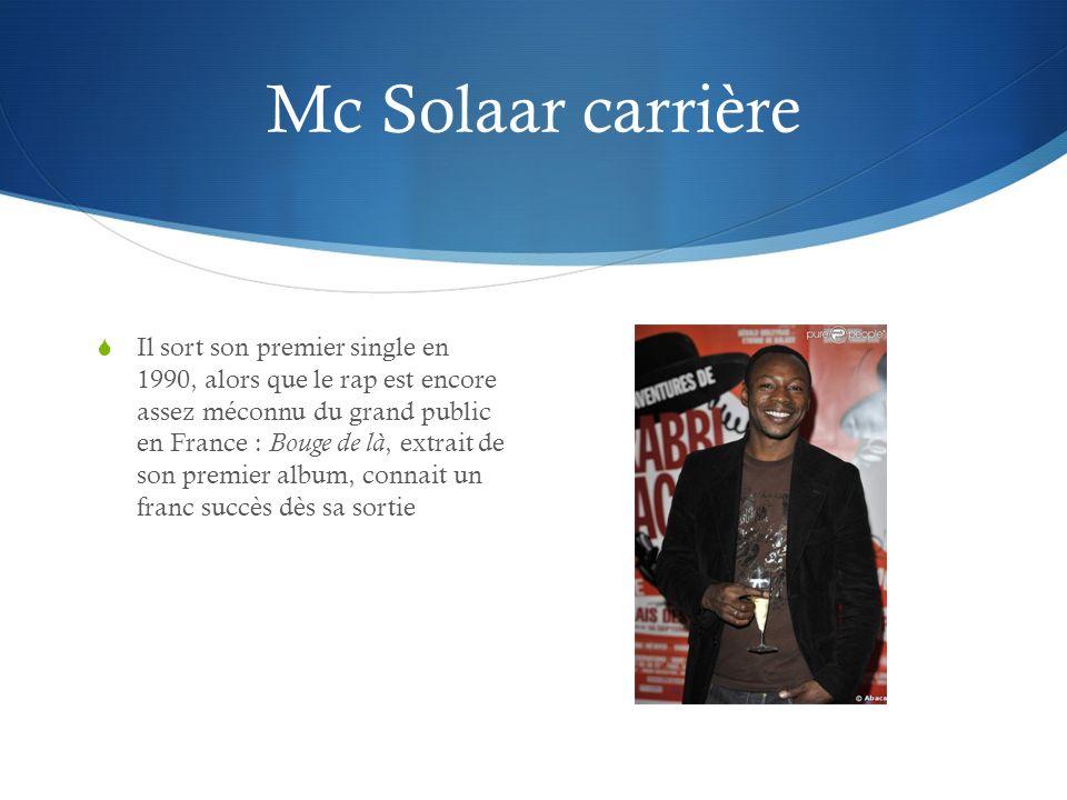 Mc Solaar carrière