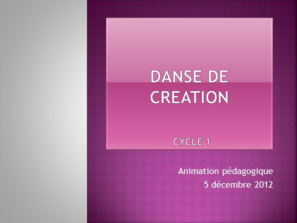DANSE de creation CYCLE 1