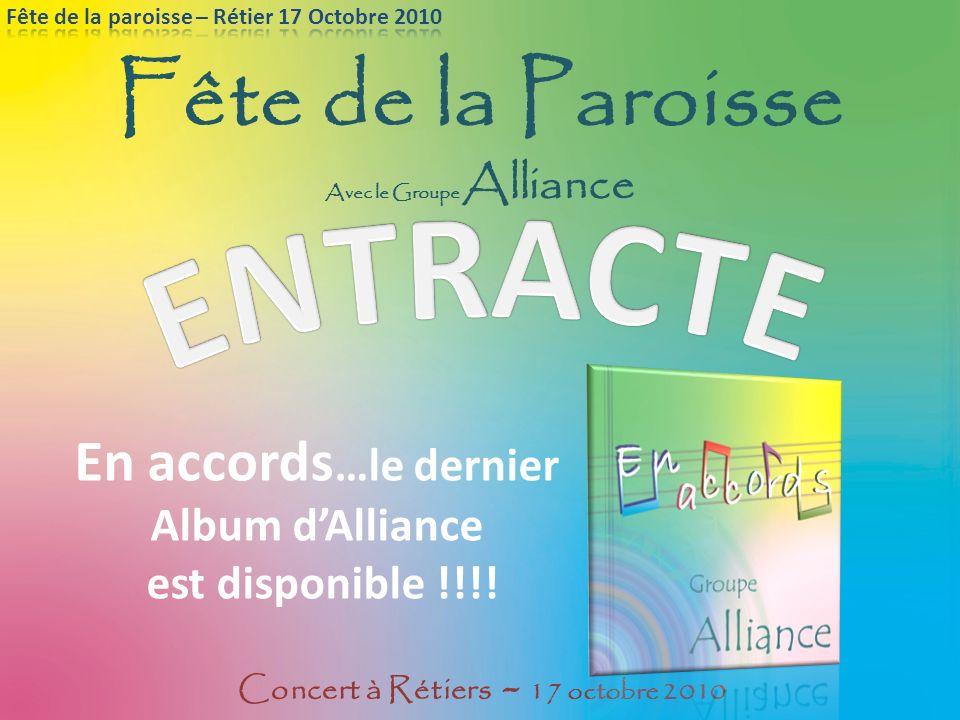 Avec le Groupe Alliance Concert à Rétiers - 17 octobre 2010